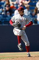 Jeremy Bleich of the Stanford Cardinal during a game against the Cal State Fullerton Titans at Goodwin Field on February 4, 2007 in Fullerton, California. (Larry Goren/Four Seam Images)