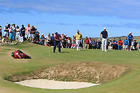 Padraig Harrington (IRL) on the 10th green during Round 2 of the Dubai Duty Free Irish Open at Ballyliffin Golf Club, Donegal on Friday 6th July 2018.<br /> Picture:  Thos Caffrey / Golffile
