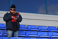 Kingstonian fan during Macclesfield Town vs Kingstonian, Emirates FA Cup Football at the Moss Rose Stadium on 10th November 2019
