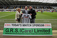 ATTENTION SPORTS PICTURE DESK<br /> Pictured: Swansea City Match Day Shirt Sponsor<br /> Re: Coca Cola Championship, Swansea City Football Club v Newcastle United at the Liberty Stadium, Swansea, south Wales. 13 February 2010