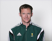 FUSSBALL Fototermin FIFA WM Schiedsrichterassistenten 09.04.2014 Mark RULE (Neuseeland)