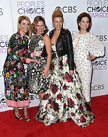 Lori Loughlin + Andrea Barber + Jodie Sweetin + Candace Cameron Bure @ the 2017 People's Choice awards held @ the Microsoft theatre.<br /> January 18, 2017. Los Angeles, USA. # PEOPLE'S CHOICE AWARDS 2017 - PRESSROOM