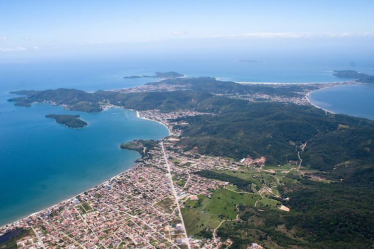 Vista aérea de Porto Belo, Santa Catarina, Brasil