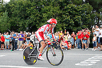 Daniel Moreno during the stage of La Vuelta 2012 between Cambados and Pontevedra.Individual Time Trials.August 29,2012. (ALTERPHOTOS/Paola Otero) /Nortephoto.com<br />