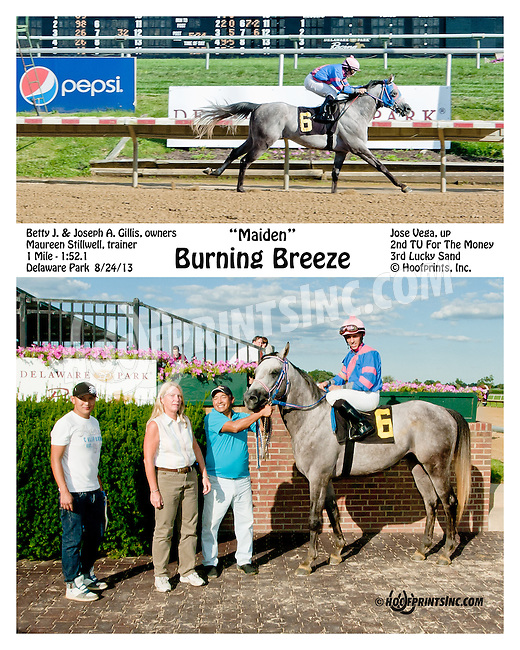 Burning Breeze winning at Delaware Park on 8/24/2013