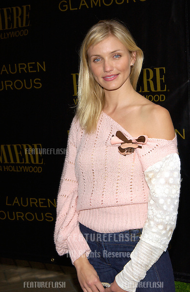 Actress CAMERON DIAZ at Premiere Magazine's Women in Hollywood luncheon at the Four Seasons Hotel, Beverly Hills. She was honored with the magazine's Icon Award..22OCT2001.  © Paul Smith/Featureflash