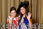 Wicklow Rose Sarah Whelan pictured with her Rosebud Thea Sanzone at the Carlton Hotel at the Rose of Tralee on Friday.