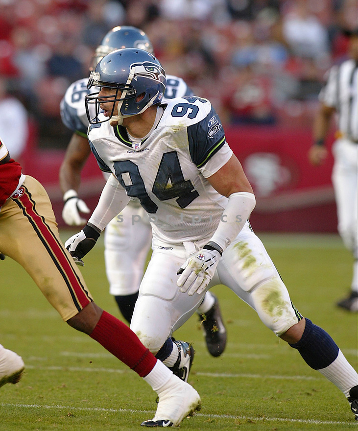 Chad Brown during the Seattle Seahavks v. San Francisco 49ers game on November 7, 2004...Seattle wins 42-27..Rob Holt / SportPics