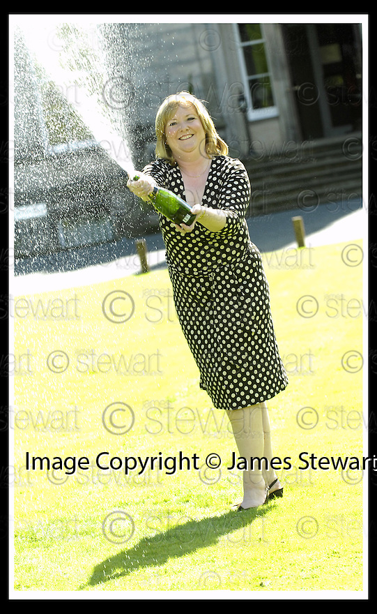 15/08/2007       Copyright Pic: James Stewart.File Name : sct_jspa11_lottery.ANGELA KELLY AT THE PRESS CONFERENCE WHERE SHE COLLECTED HER CHEQUE FOR £35,425,411.80 AFTER HER EUROMILLIONS LOTTERY WIN.....James Stewart Photo Agency 19 Carronlea Drive, Falkirk. FK2 8DN      Vat Reg No. 607 6932 25.Office     : +44 (0)1324 570906     .Mobile   : +44 (0)7721 416997.Fax         : +44 (0)1324 570906.E-mail  :  jim@jspa.co.uk.If you require further information then contact Jim Stewart on any of the numbers above........