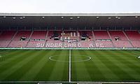 Pictured: Sunderland AFC, Stadium Of Light interior view. Sunday 11 May 2014<br /> Re: Barclay's Premier League, Sunderland v Swansea City FC at the Stadium of Light, Sunderland, UK.