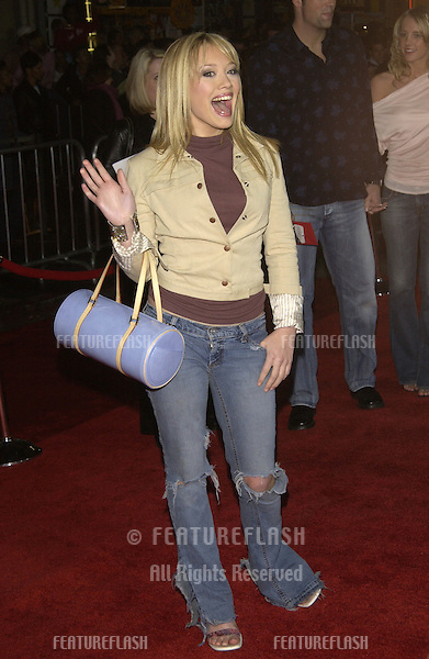 Actress HILARY DUFF at the Hollywood premiere of Bringing Down The House..02MAR2003.  © Paul Smith / Featureflash