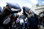 FEATURES-International Pillow Fight Day in New York