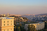 View Of Jerusalem & The West Bank with Wall Separating Both (From YMCA Tower)