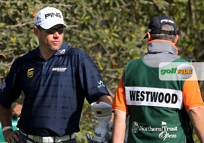 16 FEB 13 Lee Westwood on the 4th tee during Sunday's Final Round of The Northern Trust Open at Riviera Country Club in Pacific Palisades,California. photo credit :  (kenneth e. dennis/kendennisphoto.com)