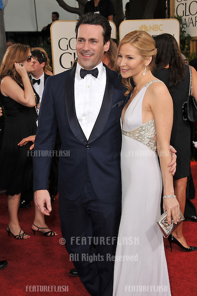 Jon Hamm & Jennifer Westfeldt at the 68th Annual Golden Globe Awards at the Beverly Hilton Hotel..January 16, 2011  Beverly Hills, CA.Picture: Paul Smith / Featureflash