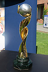 12 July 2009: The 1999 FIFA Women's World Cup championship trophy. Sky Blue FC defeated the Boston Breakers 2-1 at Harvard Stadium in Cambridge, Massachusetts in a regular season Women's Professional Soccer game.