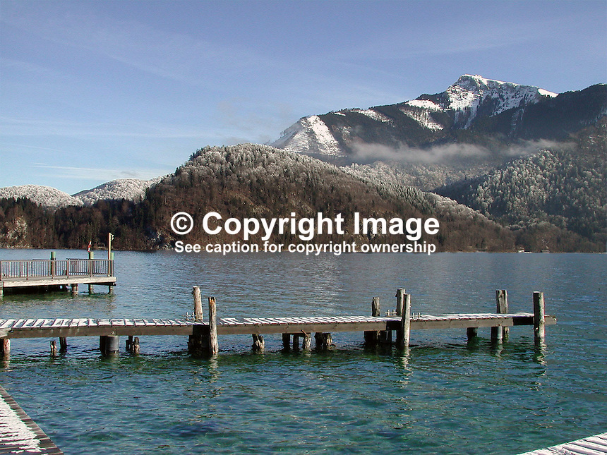 Lake, mountain, view, St Gilgen, Salzburg, Austria, 2000121315..Copyright Image from Victor Patterson, 54 Dorchester Park, Belfast, UK, BT9 6RJ..Tel: +44 28 9066 1296.Mob: +44 7802 353836.Voicemail +44 20 8816 7153.Skype: victorpattersonbelfast.Email: victorpatterson@mac.com.Email: victorpatterson@ireland.com (back-up)..IMPORTANT: If you wish to use this image or any other of my images please go to www.victorpatterson.com and click on the Terms & Conditions. Then contact me by email or phone with the reference number(s) of the image(s) concerned.