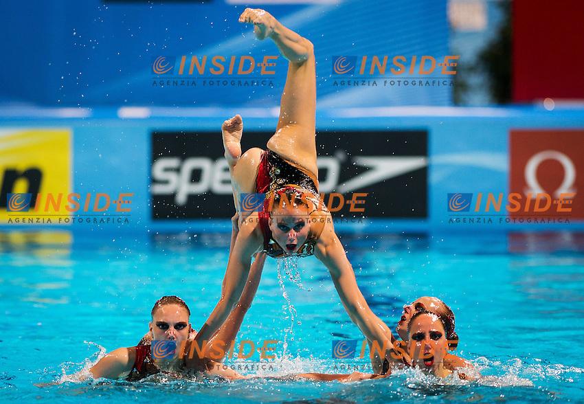 Russia RUS<br /> 15th FINA World Aquatics Championships 2013<br /> Day07 synchronised swimming team Free Final<br /> Barcelona 20 July - 4 August 2013<br /> Photo R.Pannunzi/Insidefoto/Deepbluemedia.eu