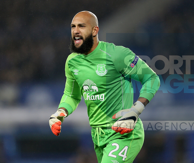 Tim Howard of Everton - UEFA Europa League - Everton vs  Lille - Goodison Park Stadium - Liverpool - England - 6th November 2014 - Pic Simon Bellis/Sportimage