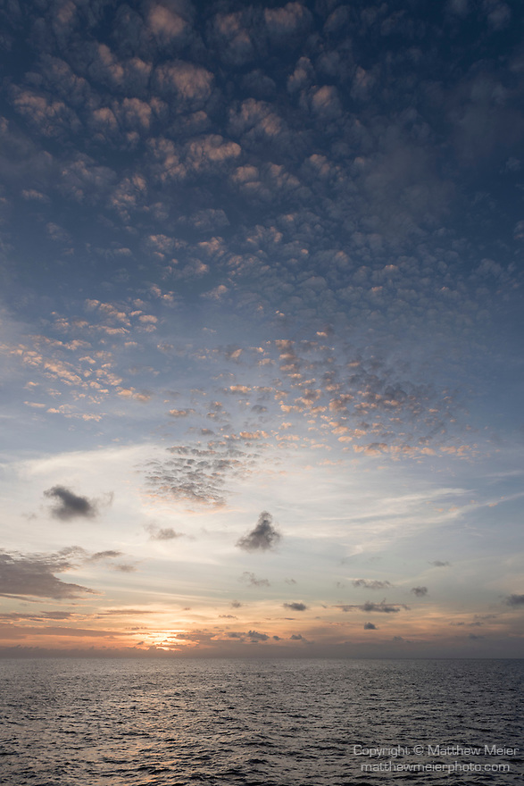 Great Barrier Reef, Australia; sunset cloud formations over the Great Barrier Reef