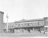 Durango's Edelman block - 1902 tenants are  &quot;Southern Hotel - European Plan&quot; and &quot;The Mint Saloon&quot;.<br /> D&amp;RG  Durango, CO  ca 1910