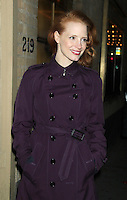 NEW YORK, NY - JANUARY 2: Jessica Chastain at the Walter Kerr Theatre in New York City for The Broadway production of 'The Heiress'. January 2, 2013.  Credit: RW/MediaPunch Inc. /NortePhoto