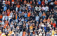 Blackpool fans watch on during the second half<br /> <br /> Photographer Alex Dodd/CameraSport<br /> <br /> The EFL Sky Bet League One - Blackpool v MK Dons  - Saturday September 14th 2019 - Bloomfield Road - Blackpool<br /> <br /> World Copyright © 2019 CameraSport. All rights reserved. 43 Linden Ave. Countesthorpe. Leicester. England. LE8 5PG - Tel: +44 (0) 116 277 4147 - admin@camerasport.com - www.camerasport.com