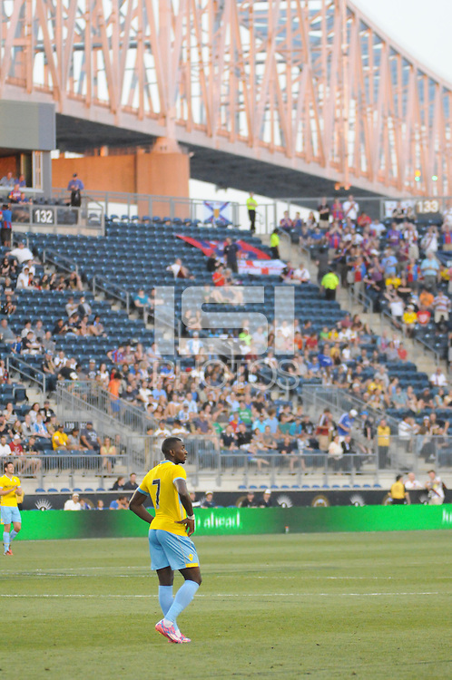 CHESTER, PA - Friday July 25, 2014: MLS team Philadelphia Union take on Crystal Palace of the Barclays Premier League in a friendly at home in PPL Park.