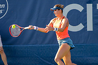 Washington, DC - August 3, 2019:  Maria Sanchez (USA) hits a forehand shot during the  Women Doubles finals at William H.G. FitzGerald Tennis Center in Washington, DC  August 3, 2019.  (Photo by Elliott Brown/Media Images International)