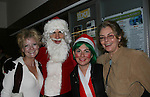 Two actresses Ellen Dolan and Denise Pence were both on Guiding Light as Maureen Reardon Bauer and Kathy Parker pose with Santa and Elf  - The Workshop Theater Company presents Cold Snaps December 9 through December 19, 2009 at the Jewel Box Theatre, New York City, New York - Nine Short Plays to Warm the Warm December Night. (Photo by Sue Coflin/Max Photos)