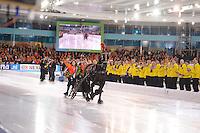 SCHAATSEN: HEERENVEEN: 08-01-2017, IJsstadion Thialf, ISU EC Sprint & Allround, Ireen Wüst, Sven Kramer, ©foto Martin de Jong