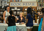 Huntington, New York, U.S. - August 6, 2014 - Hillary Rodham Clinton promotes her new memoir, Hard Choices, at a book signing event at Book Revue in Huntington, Long Island, during a nationwide tour. Clinton's book is about her four years as America's 67th Secretary of State and how they influence her view of the future.