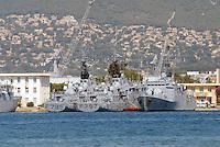 - French  Navy, Toulon naval base.. ..- Marina Militare Francese, base navale di Tolone