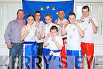 "NATIONAL CHAMPS: Member's of White Panthers Kickboxing Club who's motto is ""Tough is how we Train' Not Act"" swept the board at the first Irish National Korean Kickboxing Championship by winning 19 medals in Kildare last weekend l-r: Ron Warwick, Joanna Conlon, Kelsey Barry, Joanna Joy, Zack O'Connor, Steve O'Connor (instructor), Ryan Warwick and Johnny Horgan."