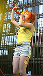 IRVINE, CA. - June 05: Hayley Williams of Paramore performs at the 2010 Los Angeles KROQ Weenie Roast at Verizon Wireless Amphitheater on June 5, 2010 in Irvine, California.