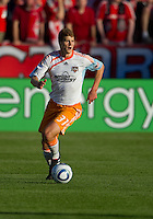01 July 2010:  Houston Dynamo defender Andrew Hainault #31 in action during a game between the Houston Dynamo and the Toronto FC at BMO Field in Toronto..Final score was 1-1....