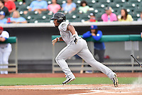 Jackson Generals designated hitter Leon Landry (6) runs to first during a game against the Tennessee Smokies at Smokies Stadium on July 5, 2016 in Kodak, Tennessee. The Generals defeated the Smokies 6-4. (Tony Farlow/Four Seam Images)