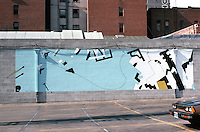 San Diego: Gaslamp Quarter--Mural.  Photo August 1982.