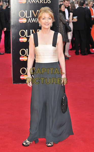 LONDON, ENGLAND - APRIL 13: Lesley Manville attends the Olivier Awards 2014, Royal Opera House, Covent Garden, on Sunday April 13, 2014 in London, England, UK.<br /> CAP/CAN<br /> &copy;Can Nguyen/Capital Pictures