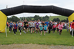 THe start of Tiarnan's fun run at Hunterstown GFC. Photo: Colin Bell/pressphotos.ie