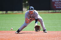 University of Connecticut infielder Bobby Melley (31) during game against the Rutgers University Scarlet Knights at Bainton Field on May 3, 2013 in Piscataway, New Jersey. Connecticut defeated Rutgers 3-1.      . (Tomasso DeRosa/ Four Seam Images)
