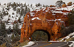 Utah highway tunnel through Rock