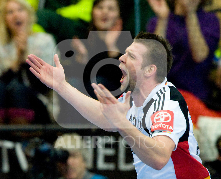 17.01.2011, Kristianstad Arena, SWE, IHF Handball Weltmeisterschaft 2011, Herren, Spanien (ESP) vs Deutschland (GER) im Bild, // Jubel, Christian Sprenger, Tyskland // during the IHF 2011 World Men's Handball Championship match Spanien (ESP) vs Deutschland (GER) at Kristianstad Arena.   Foto © nph / Bildbyrån   63678