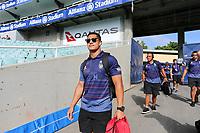 Roger Tuivasa-Sheck arrives. Sydney Roosters v Vodafone Warriors, NRL Rugby League. Allianz Stadium, Sydney, Australia. 31st March 2018. Copyright Photo: David Neilson / www.photosport.nz