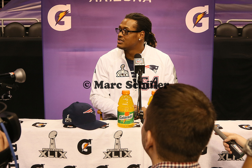 Dont'a Hightower (Patriots) - Super Bowl XLIX Media Day, US Airways Center, Phoenix