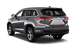 Car pictures of rear three quarter view of 2017 Toyota Highlander LE-Plus 5 Door SUV Angular Rear