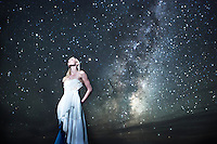 Kat poses during a model shoot out at my favorite dark sky locations at Cape Palliser in New Zealand. The stars and Milky Way were an amazing background to shoot Kat against. This photo was all done in one exposure, so no compositing at all.