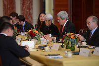September 19, 2013  (Washington, DC)  Secretary of State John Kerry begins a bilateral meeting with the Chinese delegation and Chinese Foreign Minister Wang Li at the Department of State.  (Photo by Don Baxter/Media Images International)