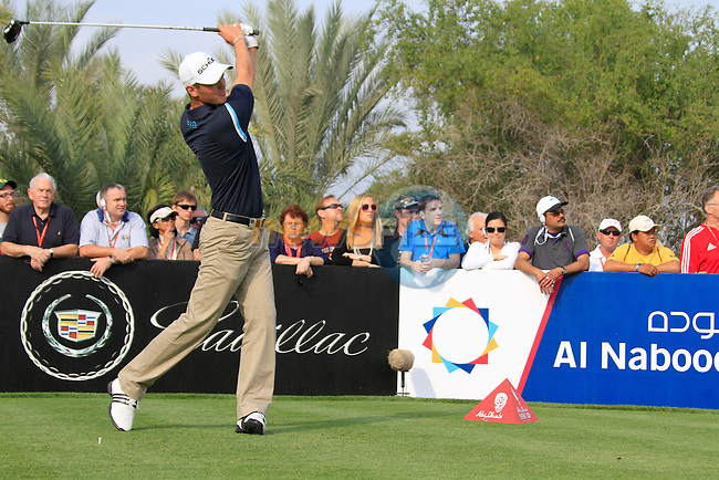 Martin Kaymer tees off on the 14th tee during Day 3 Saturday of the Abu Dhabi HSBC Golf Championship, 22nd January 2011..(Picture Eoin Clarke/www.golffile.ie)