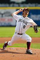 Clay Murphy (8) of the Missouri State Bears during a game vs. the Western Illinois Leathernecks at Hammons Field in Springfield, Missouri;  March 20, 2011.  Photo By David Welker/Four Seam Images